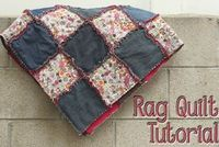 Rag Quilt Tutorial from Chaos and Love. One day I will learn to sew and then I will make this.