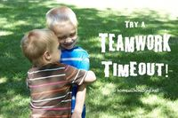 Teamwork Timeout <--great idea for squabbling kids