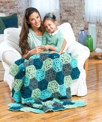 Flower Throw free crochet pattern