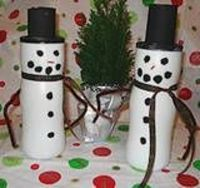 Recycled Snowman Craft