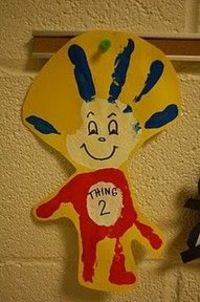 Seuss Thing I & Thing 2- Hand print craft.