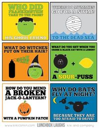FREE Lunch Box Notes For Halloween {free printable}