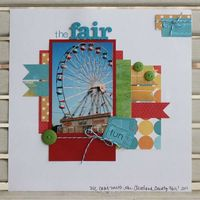 Fair scrapbook layout