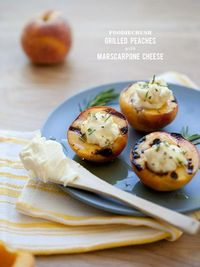 Grilled Peaches with Marscarpone Cheese