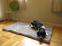 Mary Marie Knits - giant knit rug #thingsilove