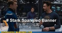 get it? tony stark.. captain america (spangled).. bruce *banner*