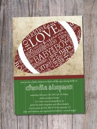 Football Baby Shower Invitation by PinchOfSpice on Etsy