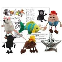Traditional nursery rhyme puppets