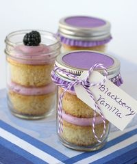 Blackberry Vanilla Cupcakes with adorable packaging!