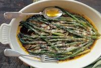 Baked Asparagus with Parmigiano-Reggiano and Balsamic