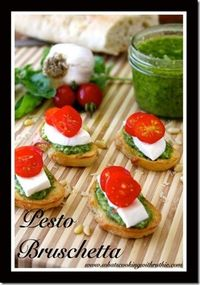 Pesto Bruschetta Recipe