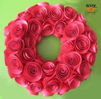Paper Rose Wreath - making this one too!