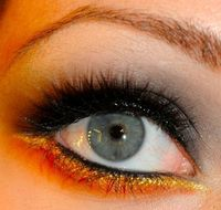 Katniss and District 12 inspired makeup. #hungergames