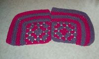 Granny Square Corner Dishcloth Set Of 2 Hot Pink & by amydscrochet, $5.00