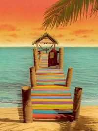 Colorful dock
