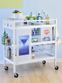 this was a changing table... and now a fab bar! Portable from room to room!