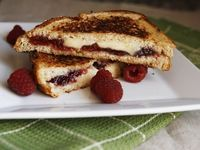 Raspberry, Brie and Blue Grilled Cheese