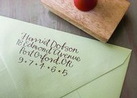 Custom Return Address Stamp // BRIGHT // hand by Primele on Etsy, $62.00