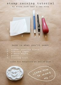 minna may » blog: diy hand carved stamp tutorial!