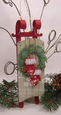 Rustic Sled Decor Ornament