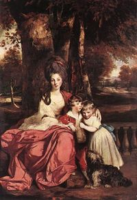 �€œLady Delm and her children�€ by Joshua Reynolds (1777-1780).